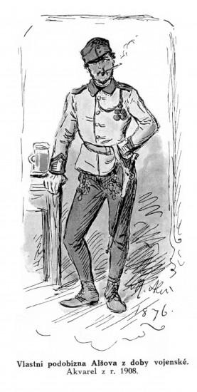 Autoportrét Mikoláše Alše naznačuje, co měl Mistr tak rád