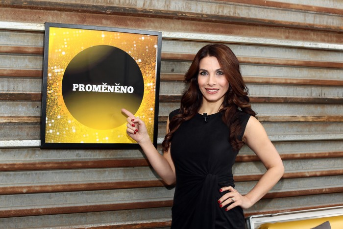 nataceni TV Barrandov - Promeneno - Praha - 17.2.2016 - Eva Aichmajerová Decastelo