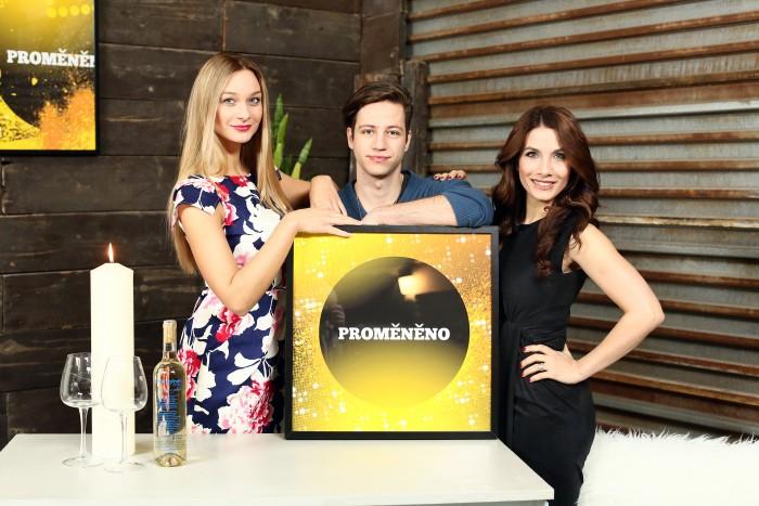 nataceni TV Barrandov - Promeneno - Praha - 17.2.2016 - Eva Aichmajerová Decastelo , Motlova Bara , Milan Peroutka