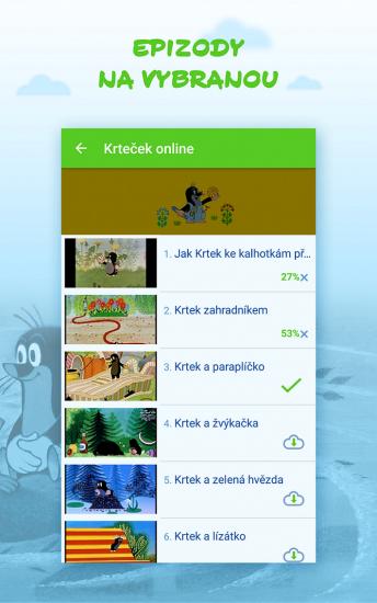 Aplikace Pohádky_epizody na vybranou (zdroj Stream.cz)