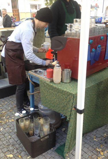 Prodej kávy do znovupouživatelných nádob