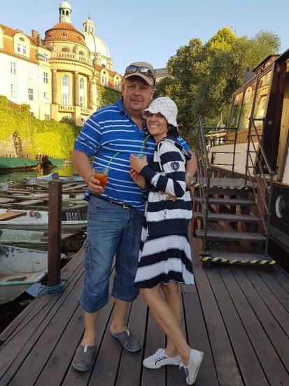 Eva Borská s přítelem Jiřím Borským 20170615_194901