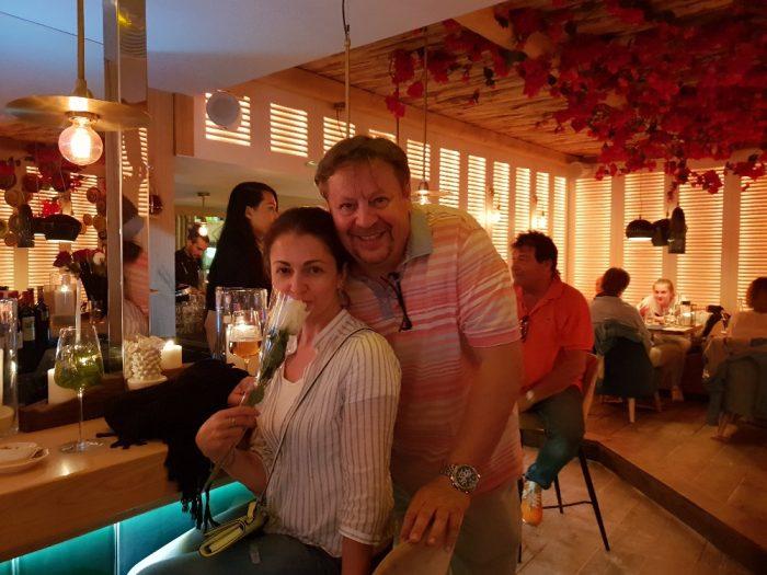 Eva Borska10 -Romanticky vecer v jednom s baru - s pritelem Jirim Borskym