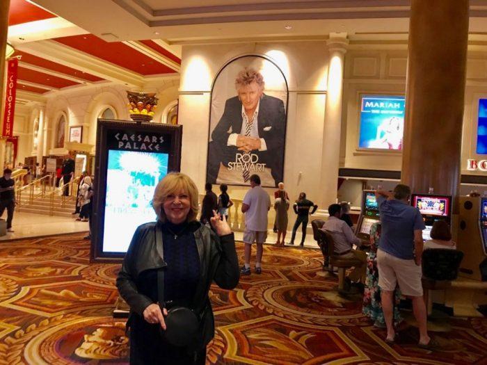 Hanka Zagorová před koncertem Roda Stewarta v Las Vegas (2018)