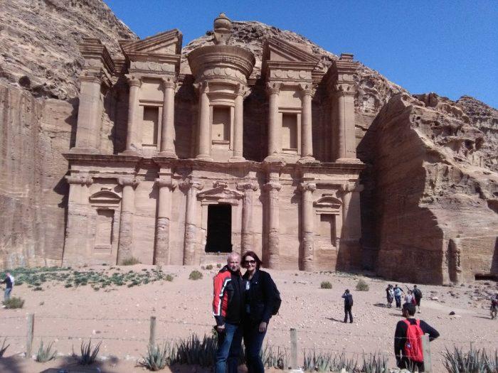 Petra 2 skalni mesto Petra v Jordansku a chram Monastery