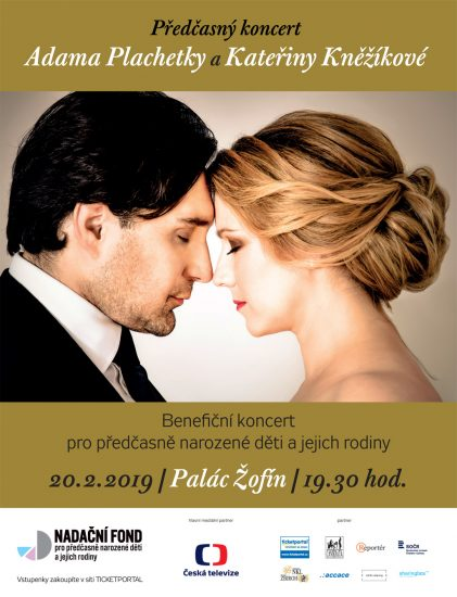 Plakátek k Předčasnému koncertu K. Kněžíkové a A. Plachetky (20.02.2019)