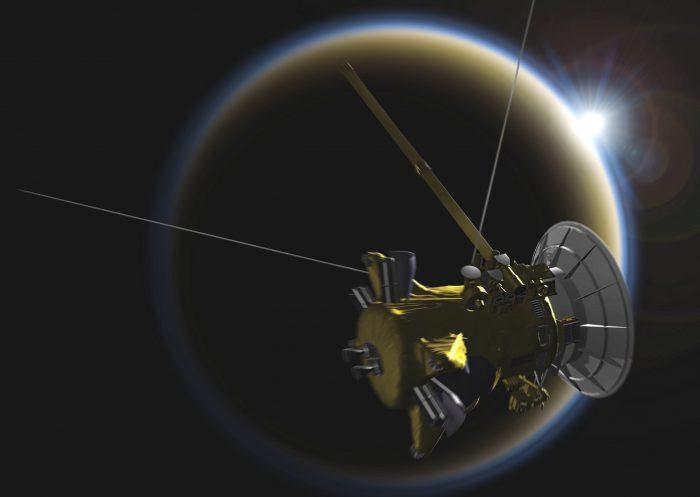 Cassini near Titan image