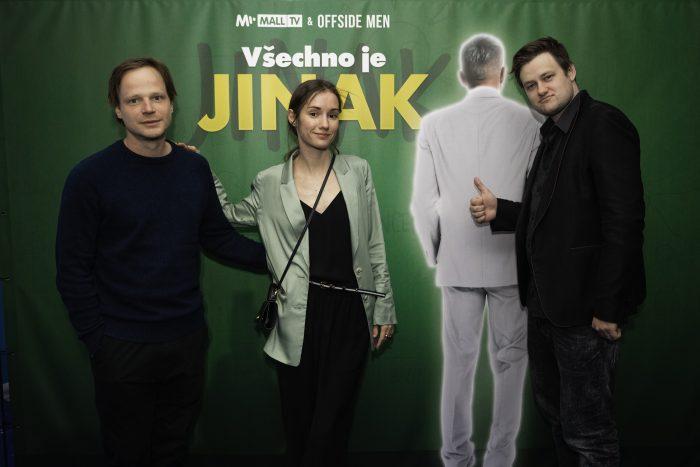 Kryštof Hádek, Eliška Křenková a Jan Strejcovský na premiéře Všechno je jinak Kryštof Hádek (foto MALL.TV)