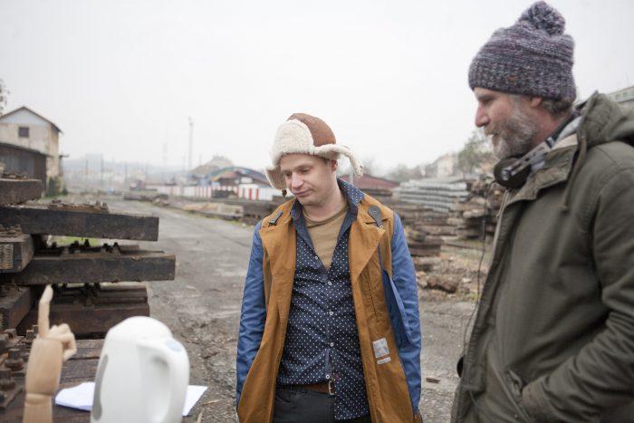 Kryštof Hádek s režisérem Janem Prušinovským (foto MALL.TV)
