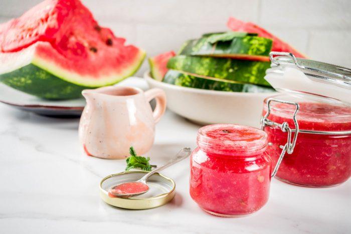 Melounový džem s malinami
