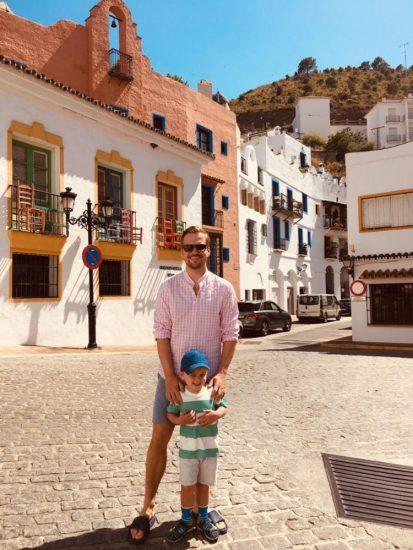 Martin Chodur se synem Martinkem (2019, spanelska Andalusie) 1