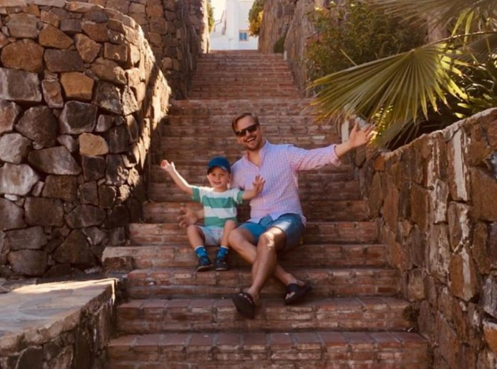 Martin Chodur se synem Martinkem (2019, spanelska Andalusie) 2