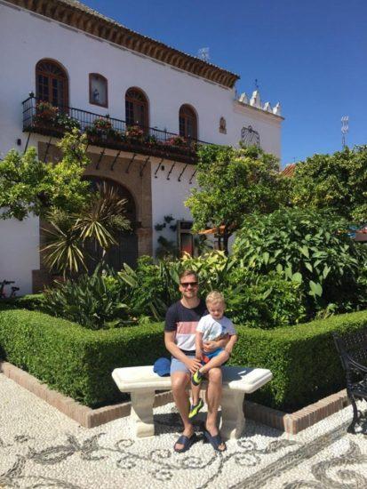 Martin Chodur se synem Martinkem (2019, spanelska Andalusie) 3