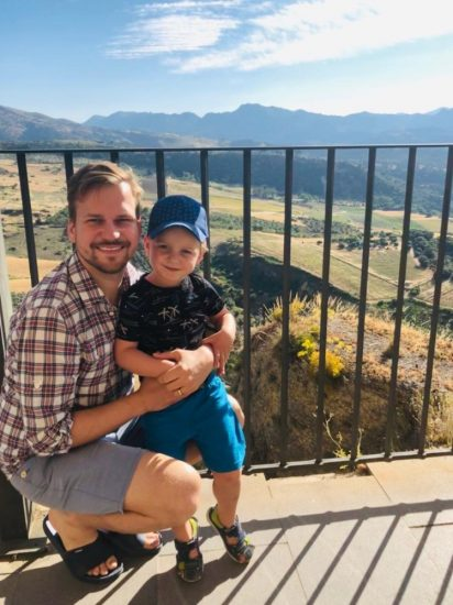 Martin Chodur se synem Martinkem (2019, spanelska Andalusie) 4